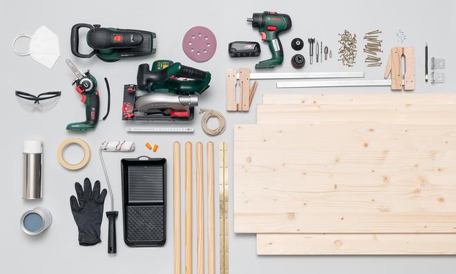DIY-Schreibtisch bauen: Material