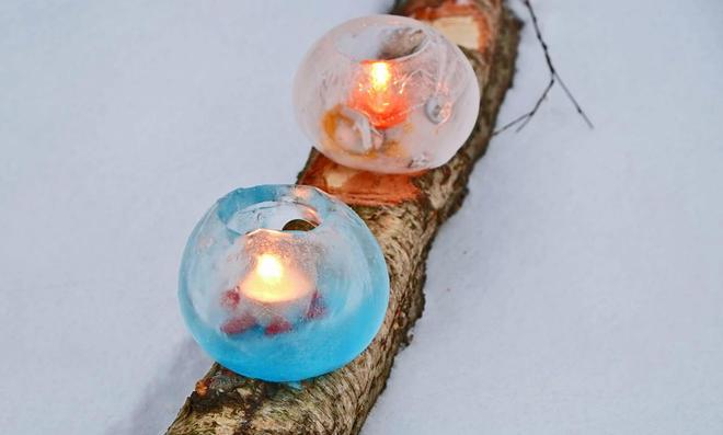 Eislicht selbst basteln