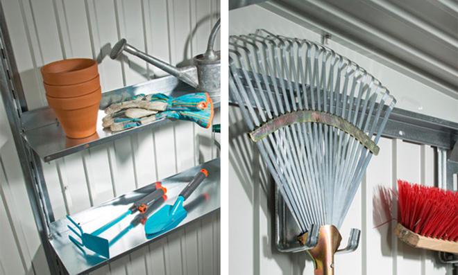 Regalböden und Gerätehalter