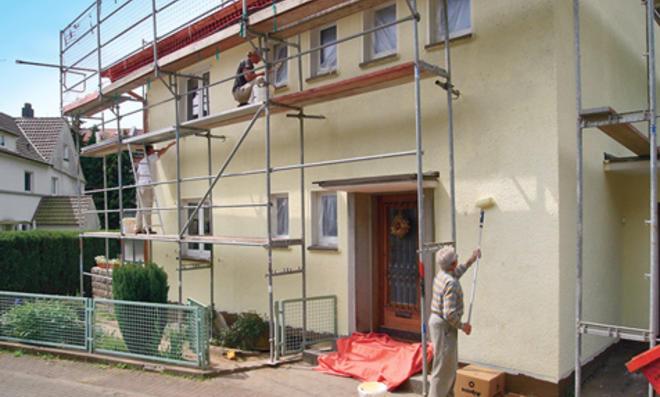 Bildergebnis für Fassaden anstrich vorher nachher