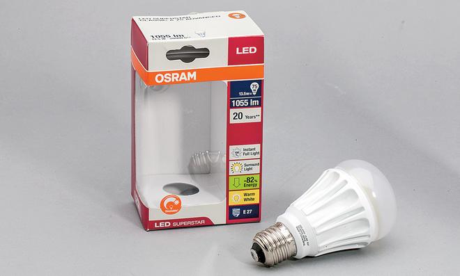 Dimmbare LED mit E27-Fassung
