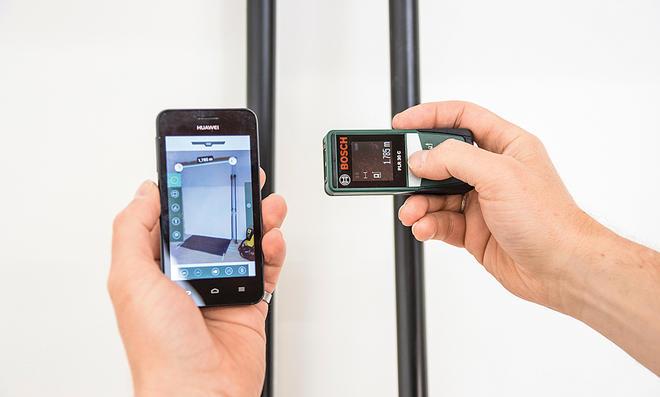 Bosch Entfernungsmesser Mit App : Laser entfernungsmesser selbst