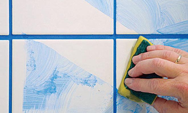 Weie fugen reinigen cheap bildtitel clean grout between floor tiles step with weie fugen - Kalk an fliesen entfernen ...