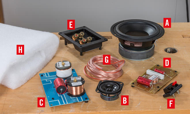 Soundbar-Bausatzteile