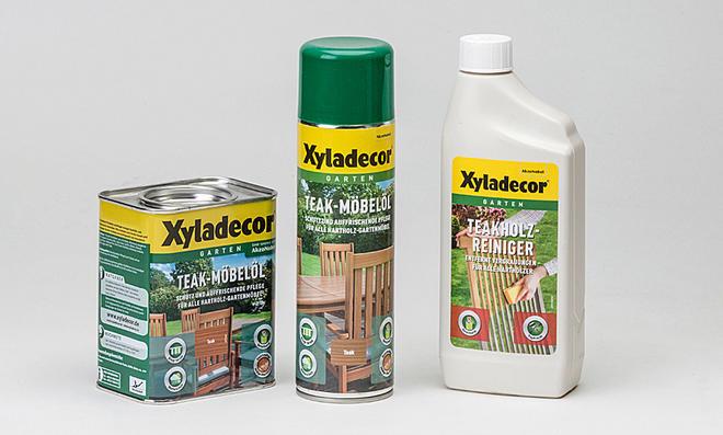 Teakholz-Reiniger und Holzöl