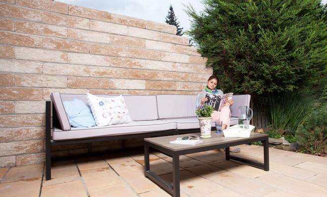 Garten Trennmauer Sichtschutzmauer Selber Bauen