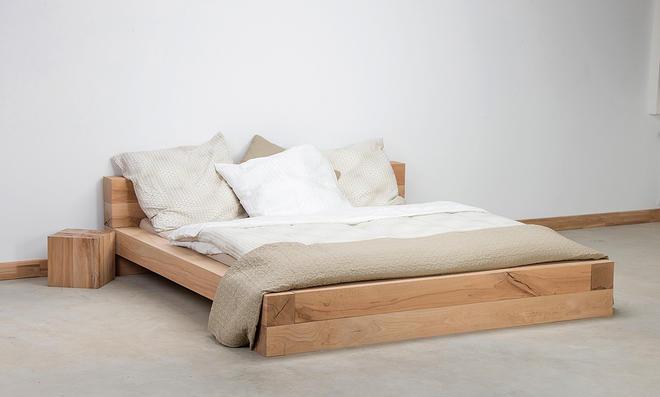 Balkenbett Einfach Stylisch: Bett Aus Balken Selber Bauen