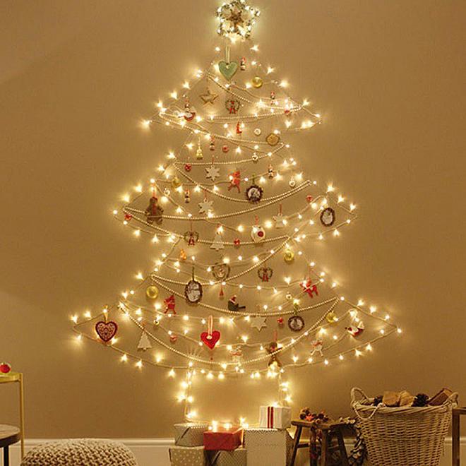 Wand-Weihnachtsbaumbeleuchtung