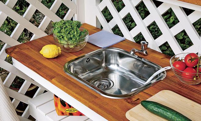 Outdoorküche Garten Edelstahl Anleitung : Garten waschbecken selbst