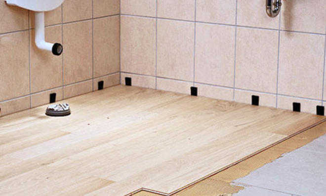Holzboden Im Bad Selbst De. Badezimmer Feuchtigkeit Entfernen.