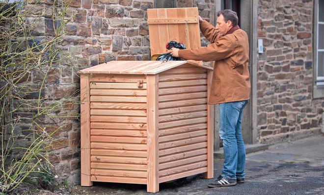 Mülltonnenbox selber bauen holz