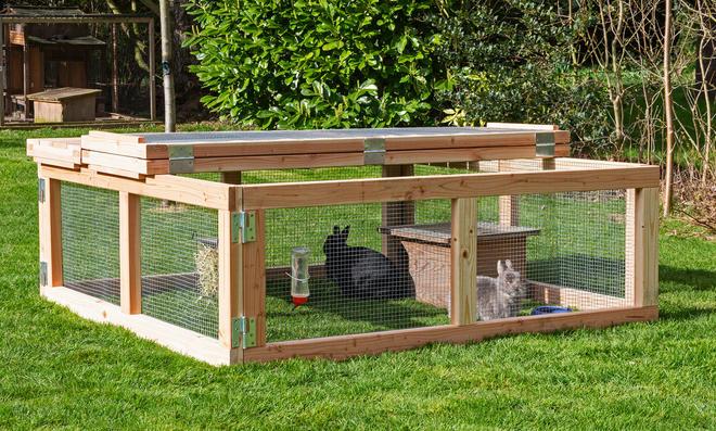 Freilaufgehege Kaninchen
