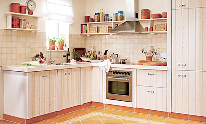 Fußboden Küche Landhausstil ~ Landhausküche selbst