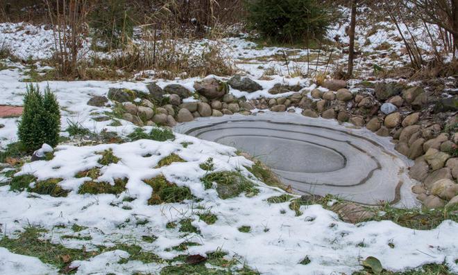 Darf der Teich mit Schnee aufgefüllt werden?