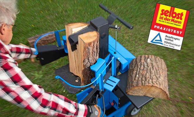 Elektrische Holzspalter Test
