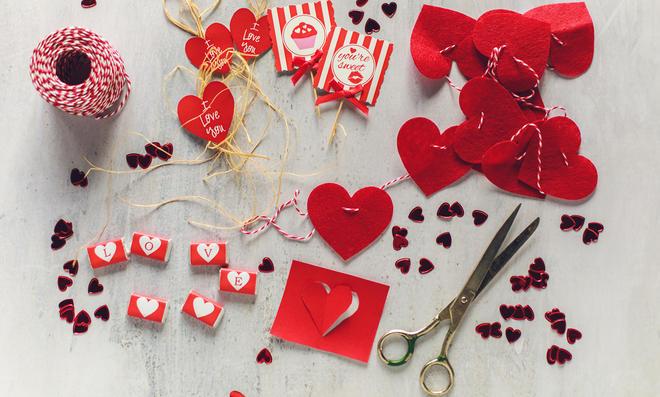 Deko für den Valentinstag