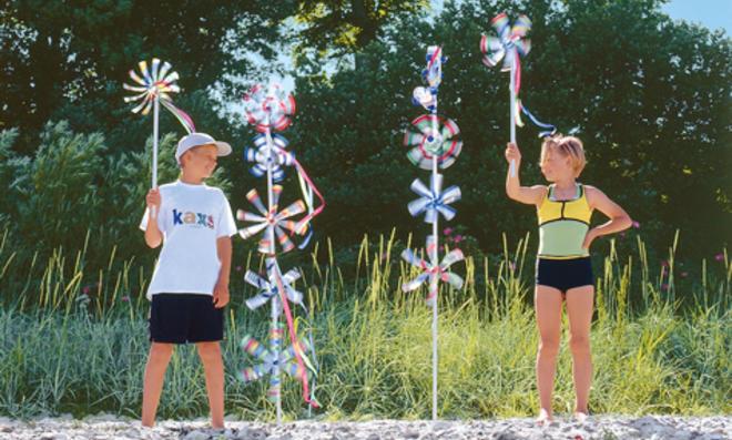 Windräder für den Garten basteln