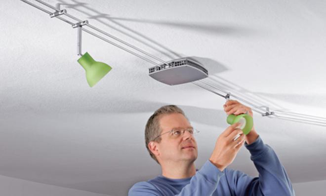 Halogen-Lampe anschließen
