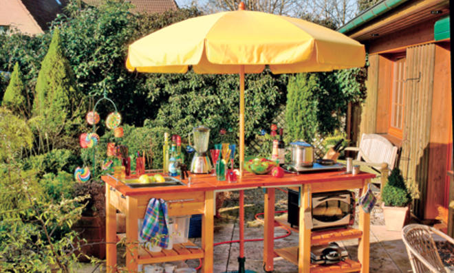 Outdoorküche: Kochen im Garten