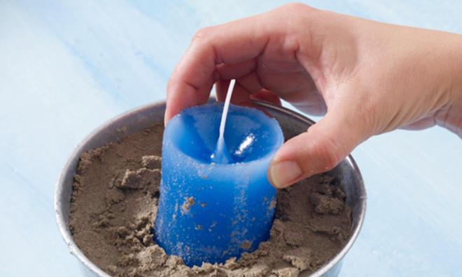 Kerze ziehen aus Kerzenwachs