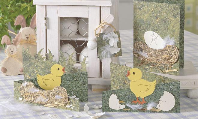 Ostergrußkarten basteln