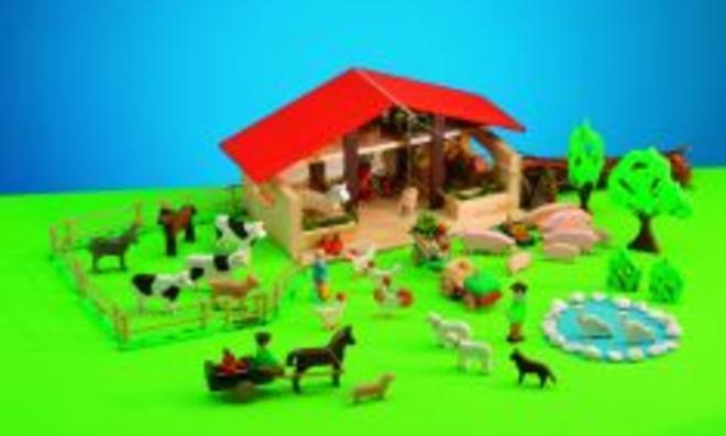 Holz-Bauernhof selber bauen