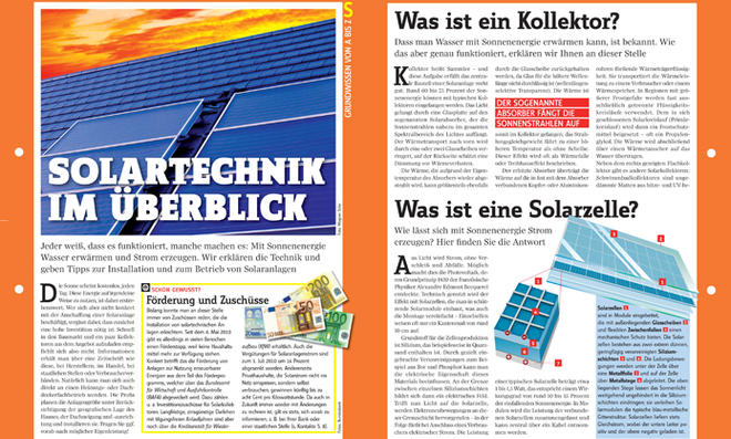 Grundwissen Solartechnik