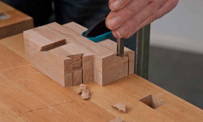 3D Puzzle: Nut ausstemmen