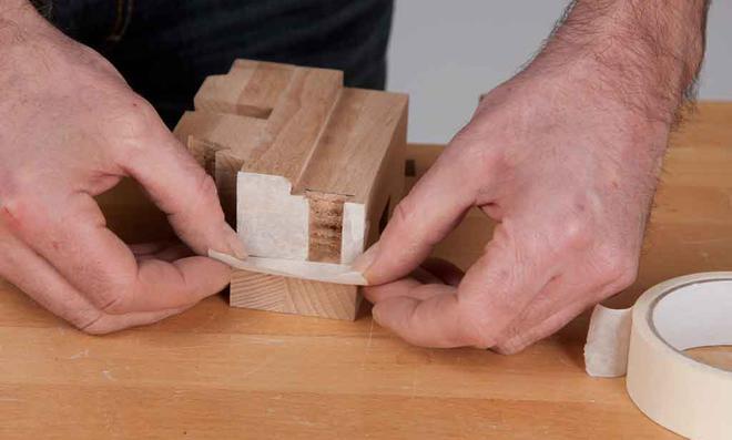 3D Puzzle: Stoßkanten ankleben