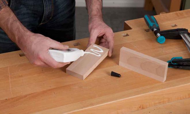 3D Puzzle: Leimholz aufdoppeln