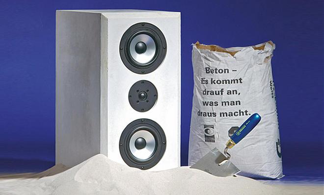 hifi boxen aus beton. Black Bedroom Furniture Sets. Home Design Ideas