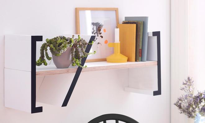 b cher wandregal. Black Bedroom Furniture Sets. Home Design Ideas