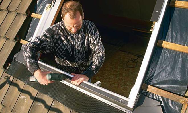Dachflächenfenster ausrichen
