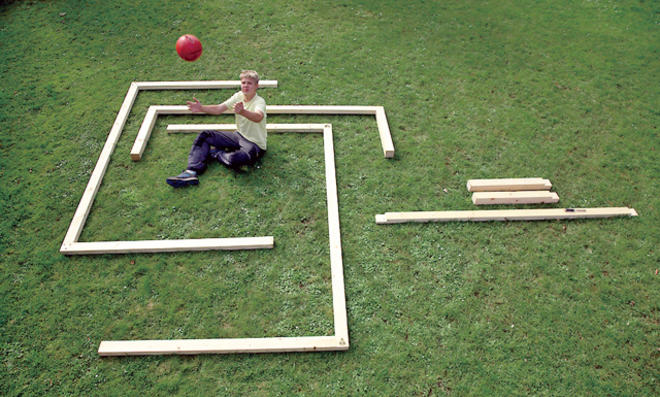 Fußballtor selber bauen: Übersicht aller Einzelteile