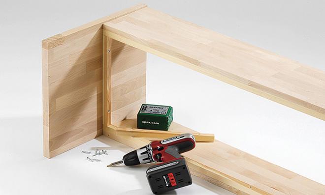 garderobenbank selber bauen. Black Bedroom Furniture Sets. Home Design Ideas