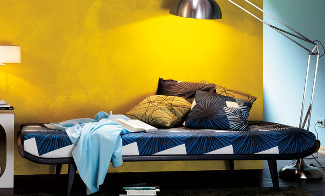 Wandgestaltung in Gold