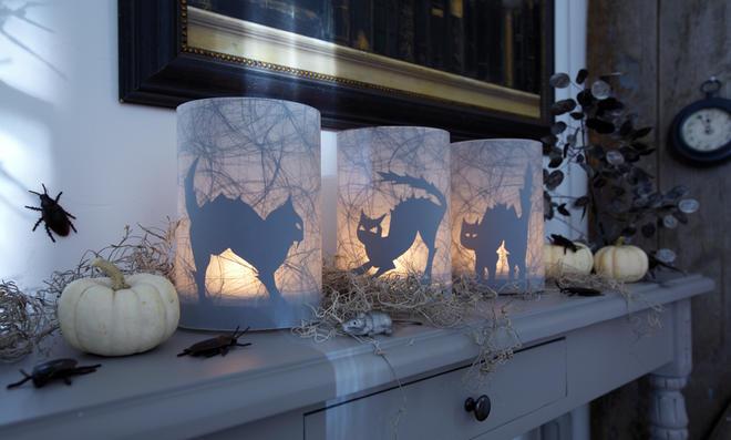 halloween windlicht. Black Bedroom Furniture Sets. Home Design Ideas