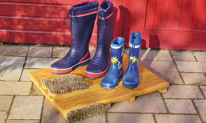 Holz-Fußmatte