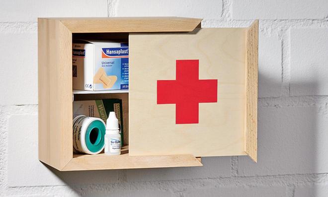 Holz-Medizinschrank