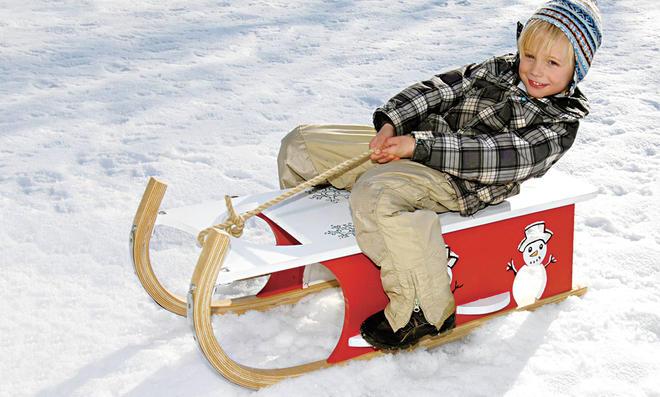 Holzschlitten Davos