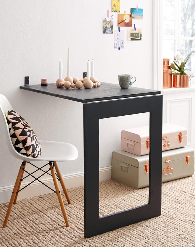 Klapptisch wandmontage küche  Wandtisch selber bauen | selbst.de