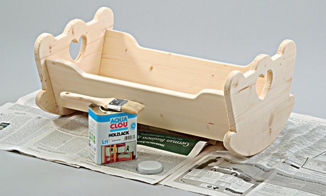puppenwiege selber bauen. Black Bedroom Furniture Sets. Home Design Ideas