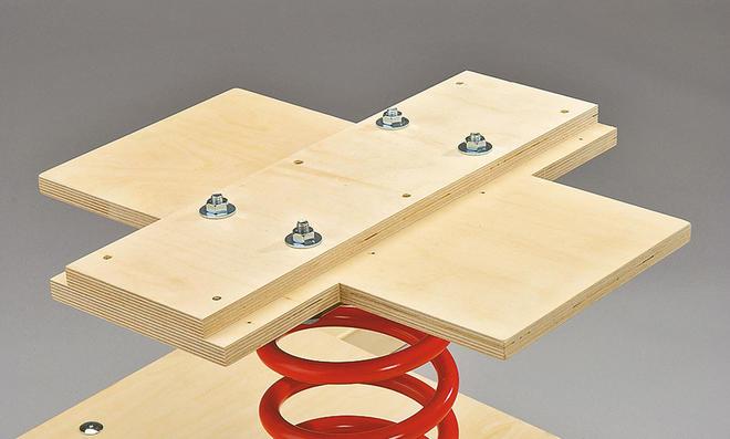 Schaukelquad: Platten montieren