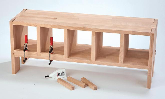 schuhbank selber bauen. Black Bedroom Furniture Sets. Home Design Ideas