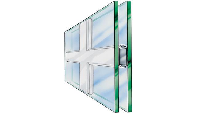 Falsche Sprossenfenster
