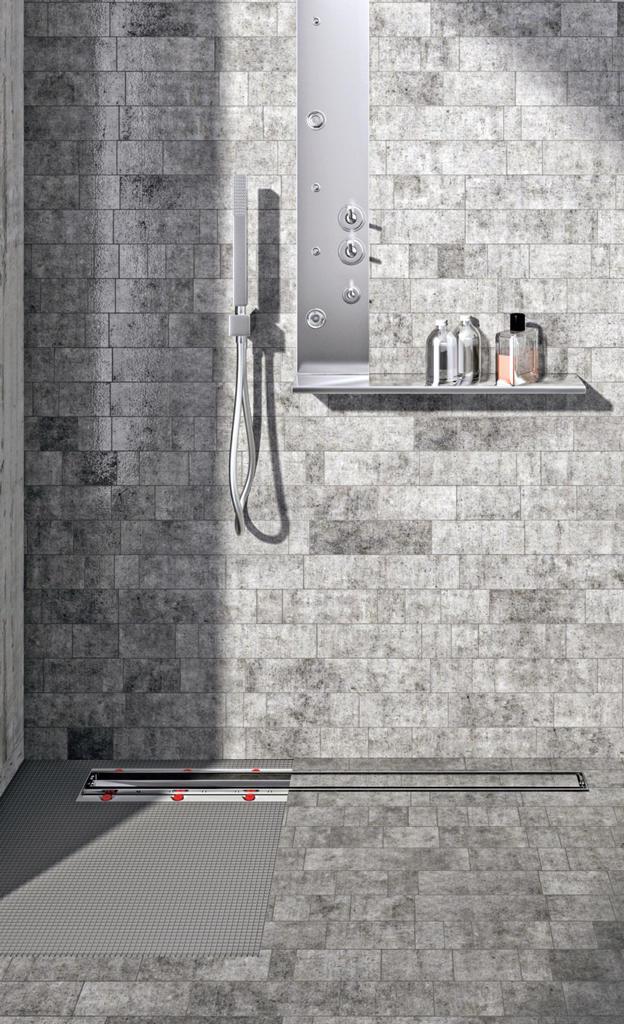 Ablauf für bodengleiche Dusche