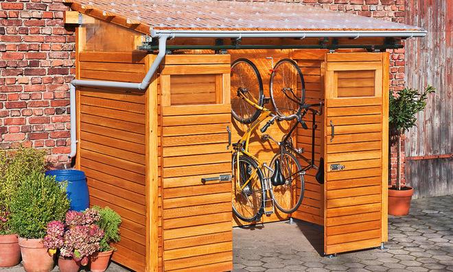 Fahrradschuppen aus Holz  selbst.de