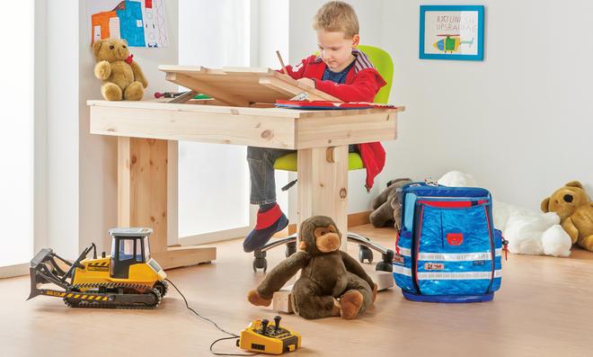 Büromöbel: Höhenverstellbarer Schreibtisch
