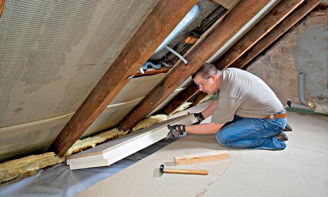 Fußboden Dachgeschoss Dämmen ~ Dachbodendämmung selbst.de
