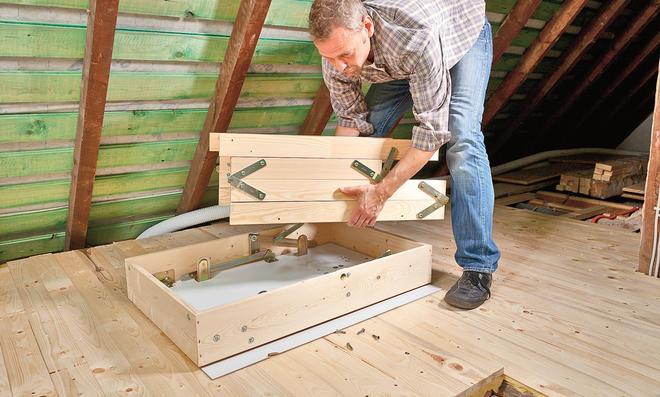 Bodentreppe einbauen